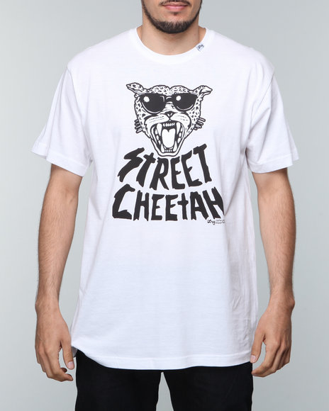 Lrg - Men White L R G Street Cheetah Slim - Fit S/S Tee
