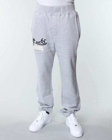 Rich Yung - Men Grey,Grey Fleece Sweat Pants
