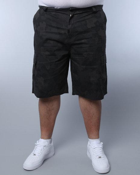 LRG Men Camo,Black Core Collection Classic Cargo Shorts (B&T)