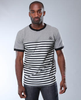 Black Apple - Printed Stripe Tee