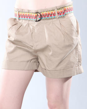 BB Dakota - Bora Cotton Twill Short w/Belt
