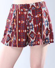 Shorts - Tribal Pleated Short