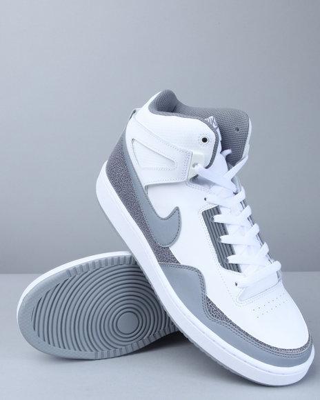 Nike Men White Nike Alphaballer Mid Sneakers