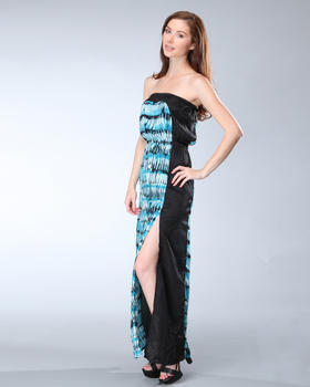 DJP OUTLET - Tube Maxi Panel Print Dress