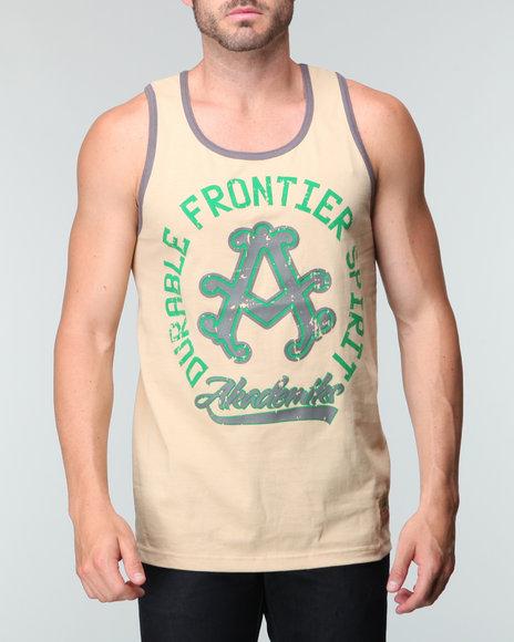 Akademiks Men Khaki Frontier Tank Top