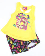 Girls - Twisted Racer Tank with Print Short (NB)