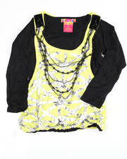 Girls - Guadeloupe Beaded Necklace Bubble Top (7-16)