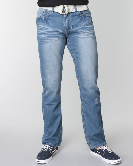 Basic Essentials Men Medium Wash Douglass Denim Jeans