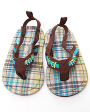 Girls - Plaid Thong Sandal (INF)