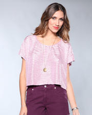 DJP Boutique - Open Neck Pink Blouse