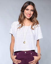 DJP Boutique - Open Neck Silver Blouse