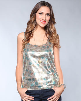 DJP OUTLET - Iniko Sequin Crop Tank