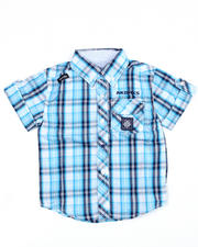 Short-Sleeve - Ringside Woven Shirt (2T-4T)