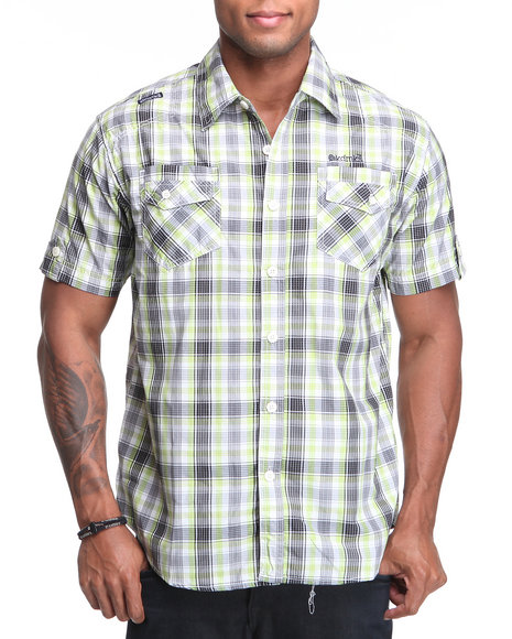 - Captain Plaid Short Sleeve Woven Shirt