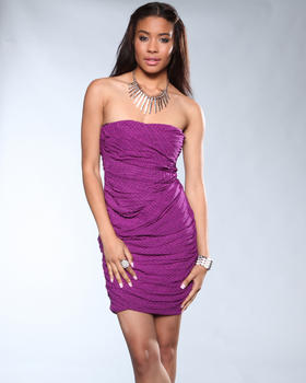 DJP Boutique - Strapless Tube Print Dress
