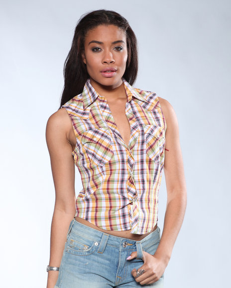 Ur-ID 136687 Djp Outlet Women's Sycamore Cropped Western Shirt Multi X-Small by DJP OUTLET