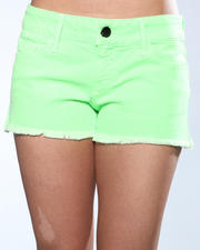 Shorts - Black Orchid Black Star Neon Cut Off Short