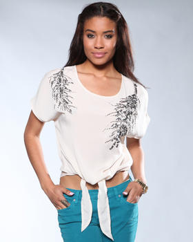 DJP Boutique - Open Neck Emellished Sequins Blouse