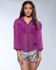 DJP Boutique - Checked Print Blouse