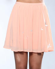 DJP OUTLET - Sheer Bird Print Skirt
