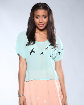 DJP OUTLET - Sheer Bird Blouse