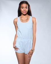 DJP OUTLET - Blue Striped Romper