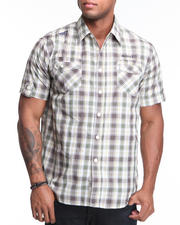 Big & Tall - Captain Plaid Short Sleeve Woven Shirt (B&T)