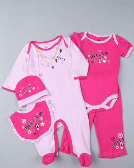 Mecca Girls Girls Pink 5Pc Value Set (Newborn)
