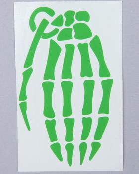 """Grenade - Skeleton Grenade 4"""" Die Cut Sticker"""