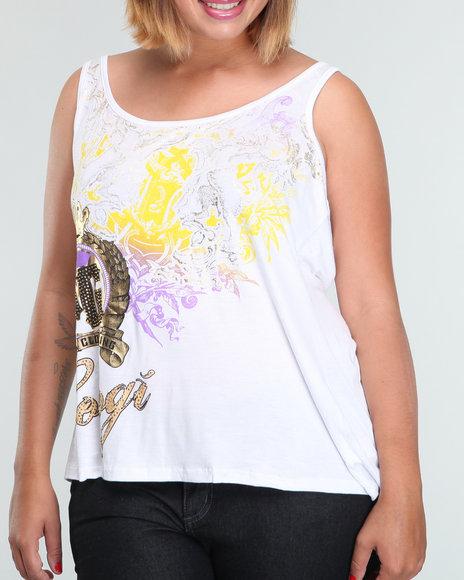 Coogi Women Fashion Tank Top (plus) - Tops Coogi Womens Tops