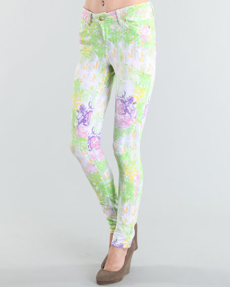 COOGI Women White All-Over Printed Leggings