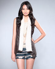 DJP OUTLET - Jesca Mixed Faux Fur and Suede Vest