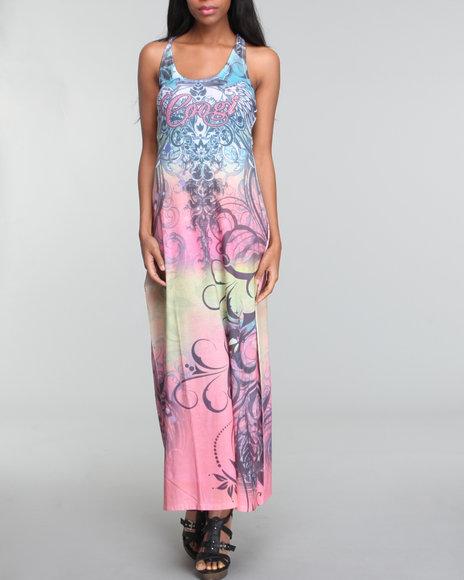 Coogi Women Coogi Maxi Dress W/all Over Print - Dresses