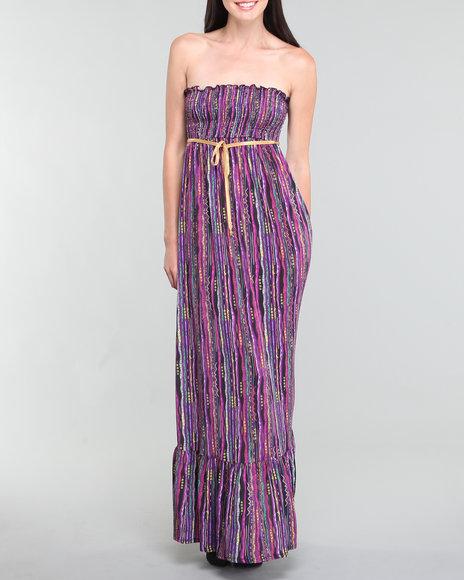 Coogi Women Sweater Print Tube Top Maxi Dress - Dresses