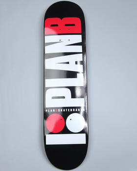 "Plan B - OG Black Team Model 7.75"" Skate Deck"