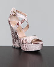 Shoes - Morgen Snakeskin Sandal