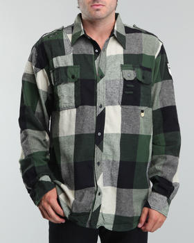 Akademiks - Custom front flap pocket plaid woven shirt