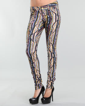 COOGI - allover printed dbl jersey luxury knit leggings
