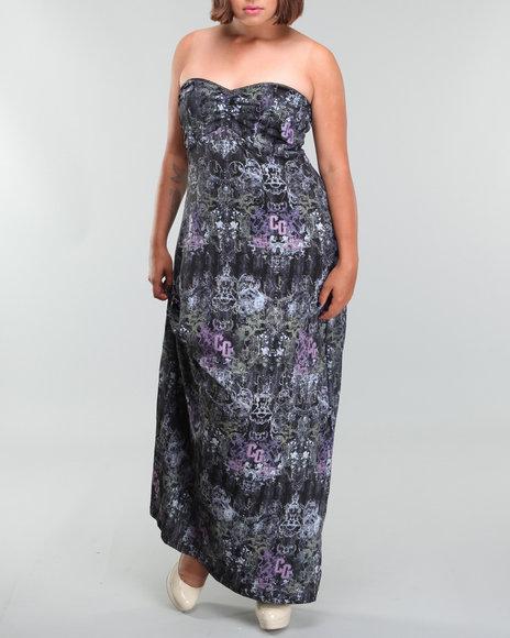 Coogi Women All Over Print Maxi Dress (plus) - Dresses