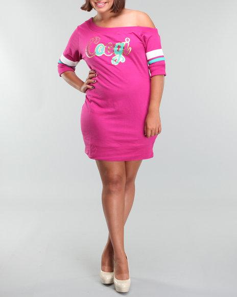 Coogi Women Off The Shoulder Knit Dress(plus) - Dresses