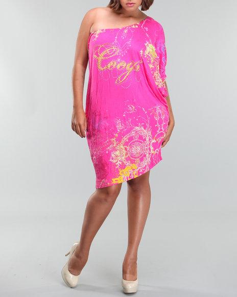 Coogi Women One Shoulder Dress (PLUS) - Dresses