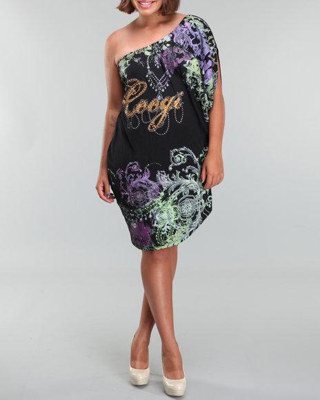 Coogi Women One Shoulder Dress(plus) - Dresses
