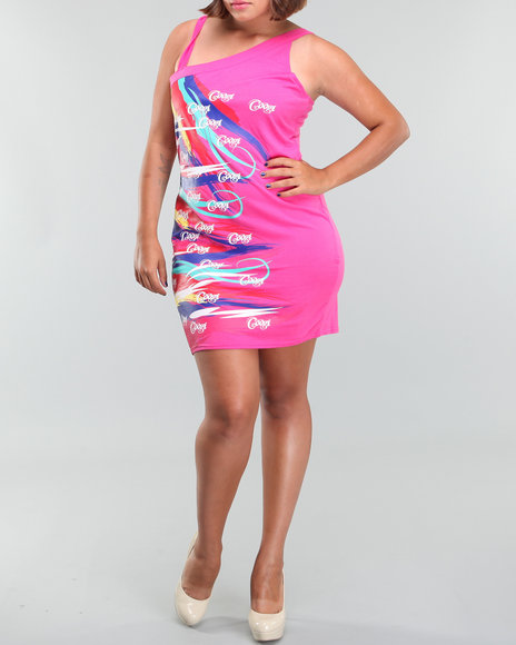 Coogi Women One Shoulder Fashion Dress(plus) - Dresses