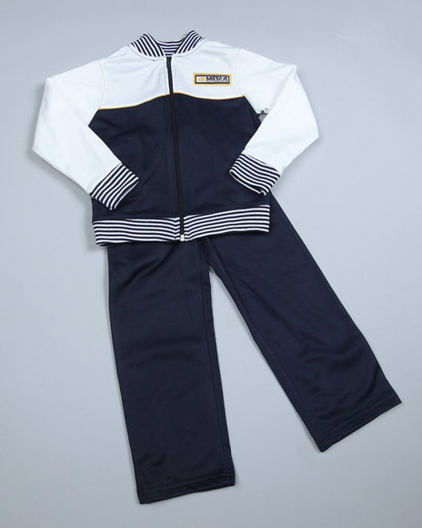 Mecca Boys Navy 2 Piece Tricot Set (4-7)
