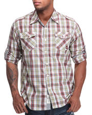 **Collections - Cole Roll Up Plaid Shirt