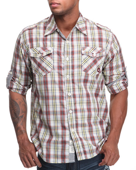 - Cole Roll Up Plaid Shirt