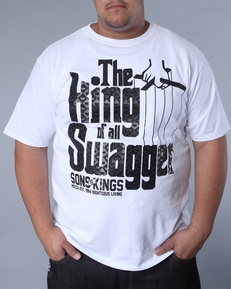 Mecca Men White King Of Swagger Tee
