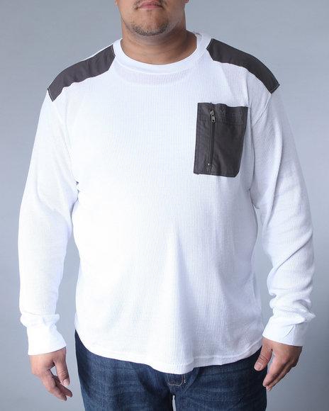 Mecca Men White Rosetta Long Sleeve Thermal (B +T)