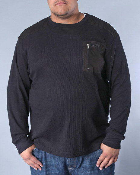 Mecca Men Black Rosetta Long Sleeve Thermal (B +T)