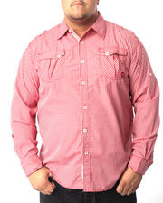 Big & Tall - Brandon Roll Up Plaid Shirt (B&T)